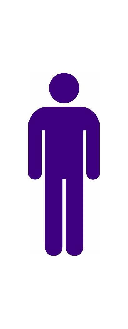 Purple Toilet Male Icon Sign Clip Clker