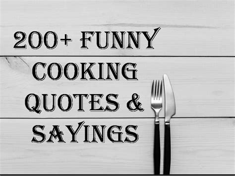 funny cooking quotes sayings