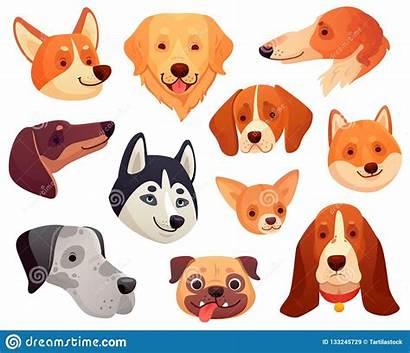 Dog Cartoon Face Dogs Funny Head Pet