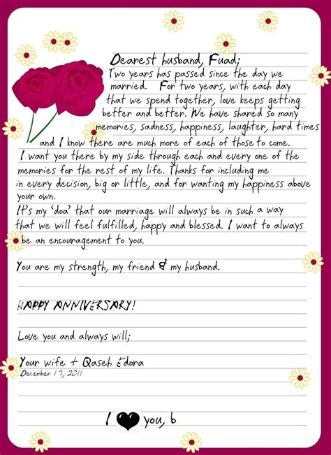 mom wife  love letter   husband