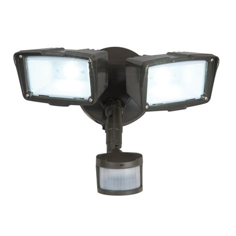 2 head led motion activated flood light all pro 180 degree 2 head led motion activated flood light