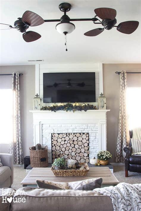 stunning  alike  diy faux fireplaces