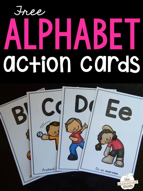 teach letter sounds  alphabet action cards