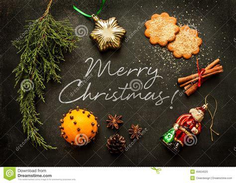 merry christmas poster or postcard design stock photo