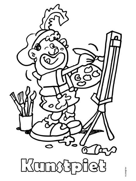 Kleurplaat Muziekpiet by 17 Beste Afbeeldingen Kleurplaten Sinterklaas Op