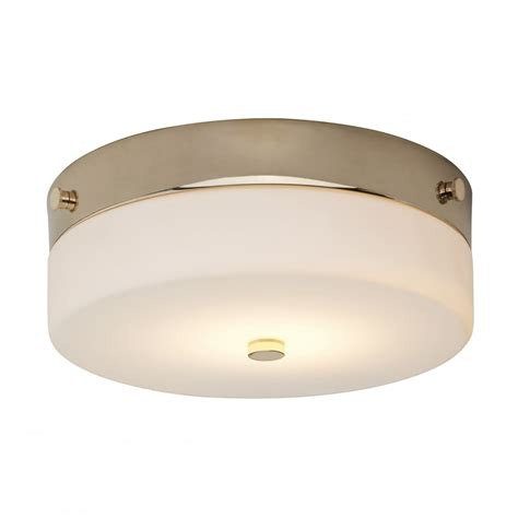 Contemporary Small Flush Bathroom Ceiling Light In Gold W