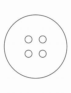 button pattern use the printable outline for crafts With design a button template free