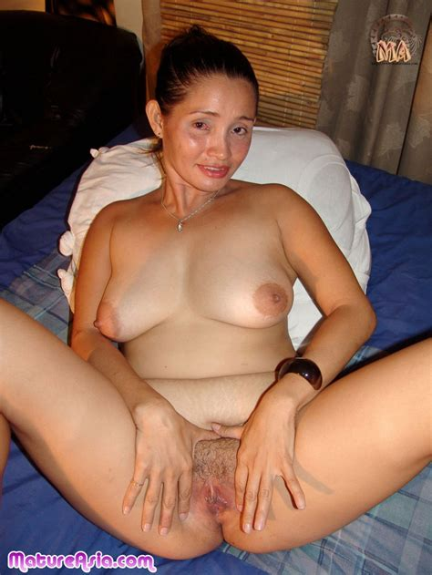 Older mature Asian lady Aj has some big round boobs