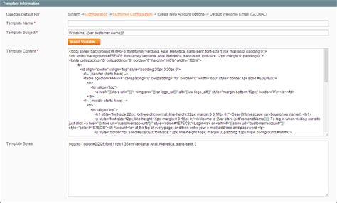 updating default templates