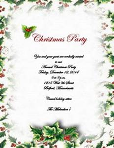 Christmas Party Invitation Templates Free Download