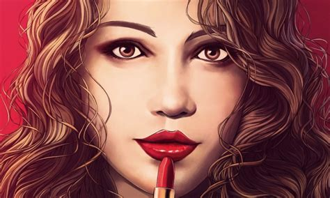 beautiful painting  girl   fun