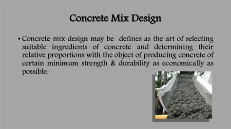 concrete mix design concrete mix design