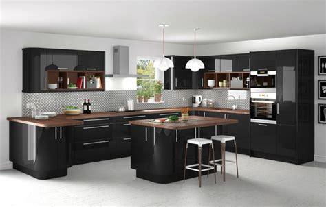cuisine avec plan de travail en bois cuisine bois ilot central plan travail en bois ideeco