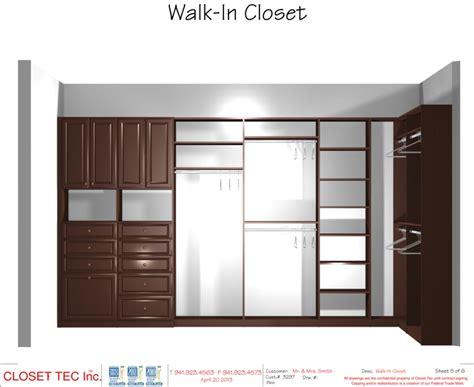 the closet inc walk in closet 3d cad design closet tec inc