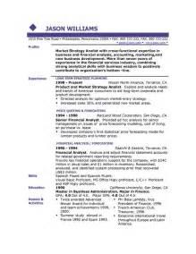 Resume Sle Templates Resumes Format