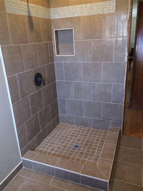 porcelain tile  shower walls  floor cut