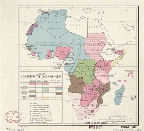 africa administrative divisions  library  congress