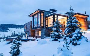 House, Modern, Winter, Snow, Trees, Building, Architecture