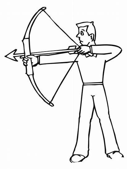 Coloring Archer Disegno Tiro Colorare Arciere Shoot