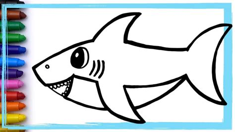 baby shark song drawing  coloring pages learn colors