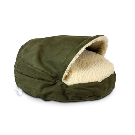 snoozer luxury cozy cave pet bed in olive cream petco