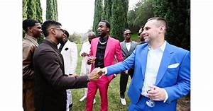 Usher, Meek Mill, and Michael Rubin at the 2020 Roc Nation ...