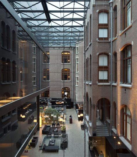 a modern hotel hides inside a former historic conservatory in amsterdam design milk