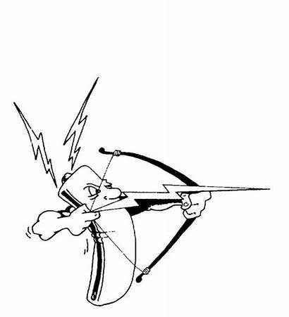 Bolt Lightning Coloring Arrow Lighting Drawing Battery