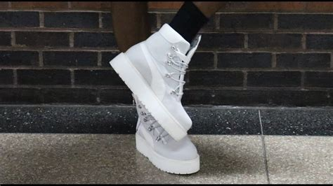Rihanna Fenty Puma Sneaker Boot Unboxing Plus Outfit Look - YouTube