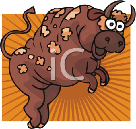 animal clipart picture   funny spotted bull