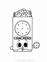 Shopkins Coloring Season Pantry Cracker Chris sketch template
