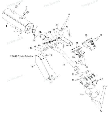 polaris atv parts 2011 r11th76 ty76 ranger 4x4 800 efi all polaris atv parts 2011 r11th76 ty76 ranger 4x4 800 efi all options engine exhaust diagram