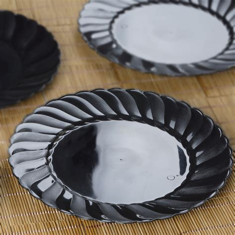 hard plastic   dinner plates party wedding catering disposable tableware ebay