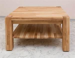 Couchtisch Beistelltisch Tisch Eiche Massiv Gelt 80 X 80