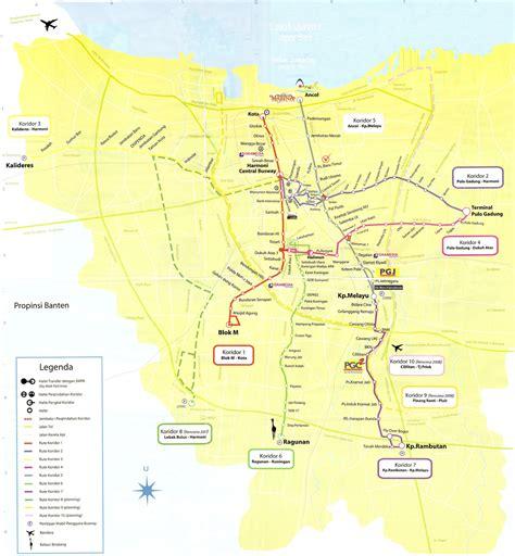 metro map  jakarta metro maps  indonesia