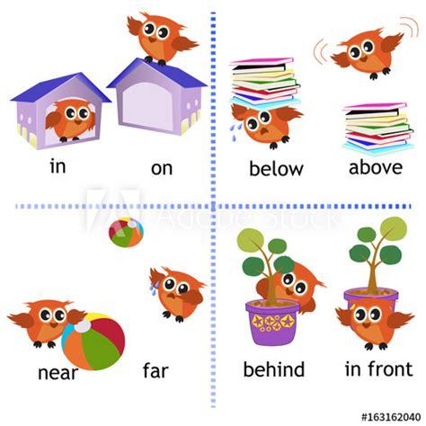 preposition english grammar  owl motion  preschool