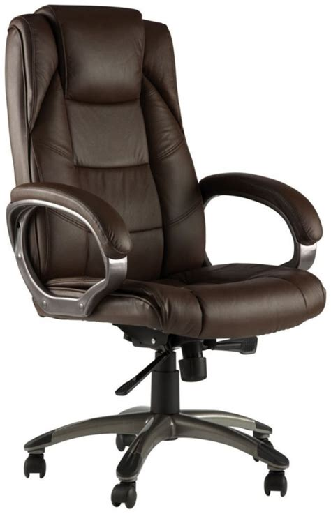 Office Chairs Uk by Buy Alphason Northland Brown Leather Faced Office Chair