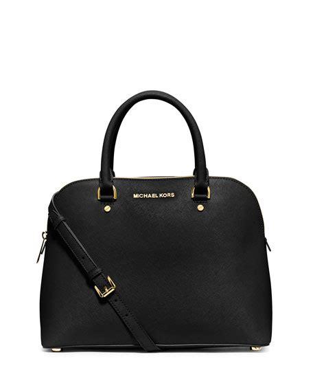 large leather purse michael michael kors large dome satchel bag black