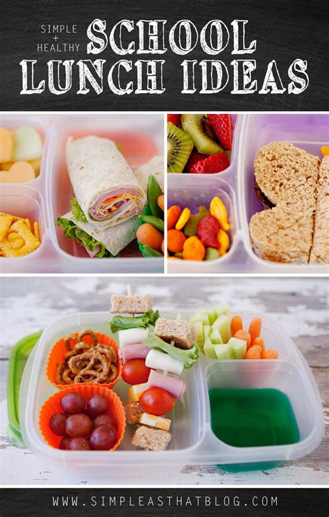 ideas for lunches simple and healthy school lunch ideas simple as that