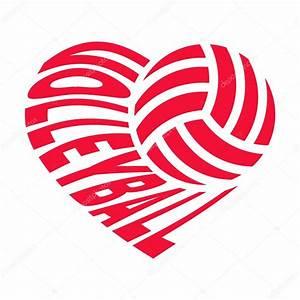 Volleyball, In, Heart, U2014, Stock, Vector, U00a9, Olisia, 168089288
