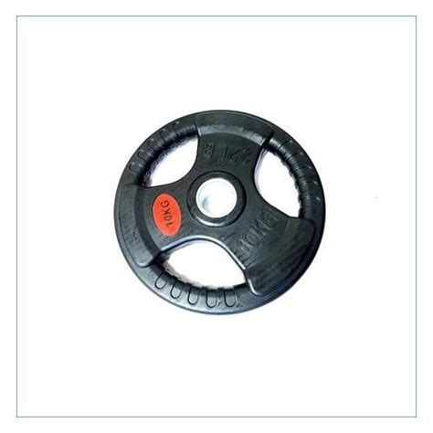 Tri Grip Rubber Olympic Weight Plates (1 Pc)   High ...