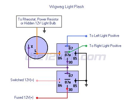 Wig Wag Flasher Relay Wiring Diagram by Wigwag Lights Positive Input Positive Output