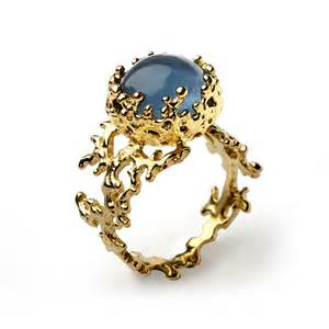 topaz engagement ring coral blue topaz engagement ring in 14k yellow gold