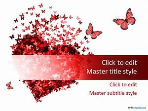 Red Powerpoint Backgrounds Free Red Heart Ppt Template