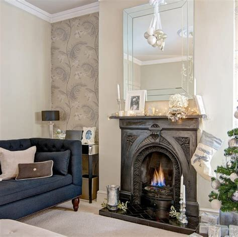 Living Room Wallpaper Neutral by Formal Sitting Room With Cole Wallpaper Living