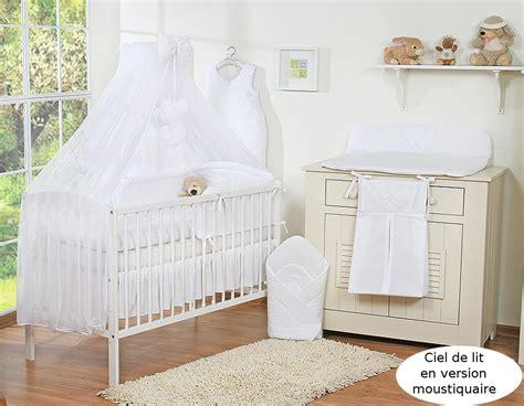 chambre bébé mykonos affordable prvenant lit de bb parure coeurs blanc