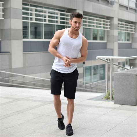 White Vest Mens White Gym Vest - Vascular Wear