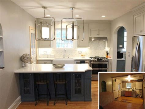 Kitchen Before And After by Stylish Small Kitchen Remodel Before And After