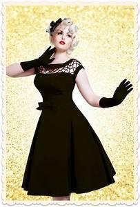 Coiffure Année 50 Pin Up : robe vintage glamour ann es 50 alika swing noire toutes les robes robes swing ~ Melissatoandfro.com Idées de Décoration