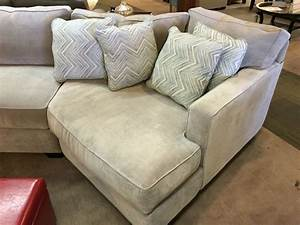 Sectional couch with a cuddler chaise by jonathan louis for Sectional sofa with chaise and cuddler